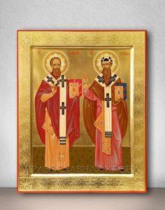 Икона «Афанасий и Кирилл, святители» (образец №1)
