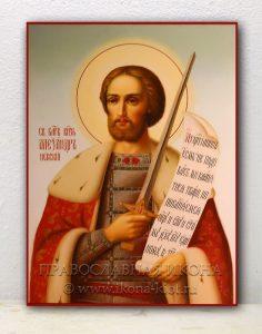Икона «Александр Невский, великий князь» (образец №19)