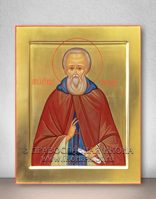 Икона «Александр Свирский» (образец №3)