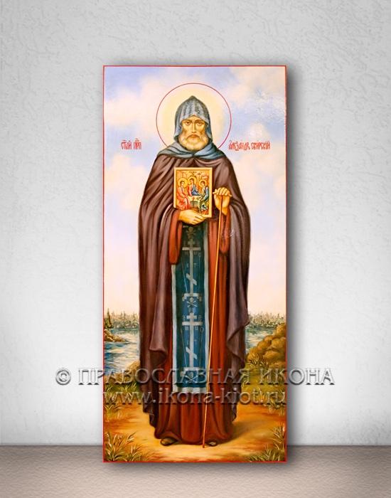 Икона «Александр Свирский» (образец №4)