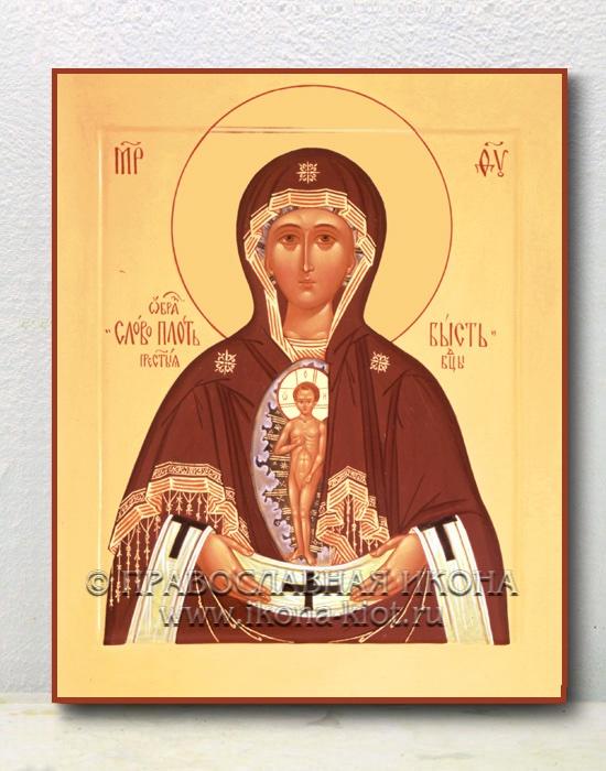 """Икона «Албазинская Божия Матерь (""""Слово плоть бысть"""")» (образец №2)"""