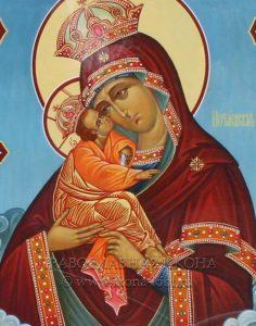 Икона «Почаевская Божия Матерь» (образец №4)