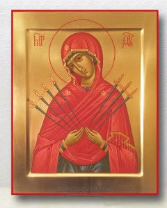 Икона «Семистрельная Божия Матерь» (образец №1)
