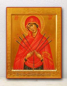 Икона «Семистрельная Божия Матерь» (образец №3)