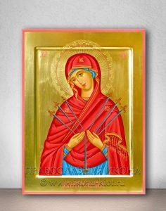 Икона «Семистрельная Божия Матерь» (образец №5)