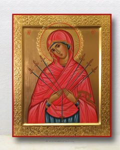 Икона «Семистрельная Божия Матерь» (образец №4)