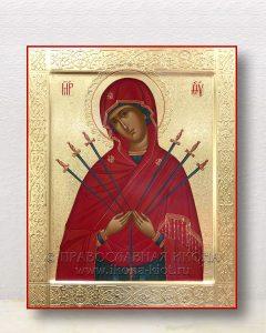 Икона «Семистрельная Божия Матерь» (образец №8)