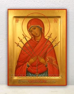 Икона «Умягчение злых сердец (Семистрельная)»