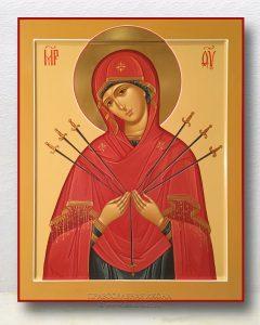 Икона «Умягчение злых сердец (Семистрельная)» (образец №5)
