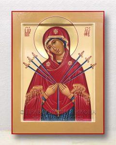 Икона «Умягчение злых сердец (Семистрельная)» (образец №8)