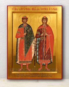 Икона «Борис и Глеб, благоверные князья» (образец №1)
