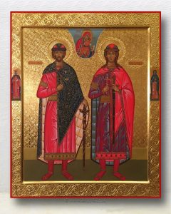 Икона «Борис и Глеб, благоверные князья» (образец №3)