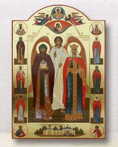 Икона «Даниил и Александра (с предстоящими)»
