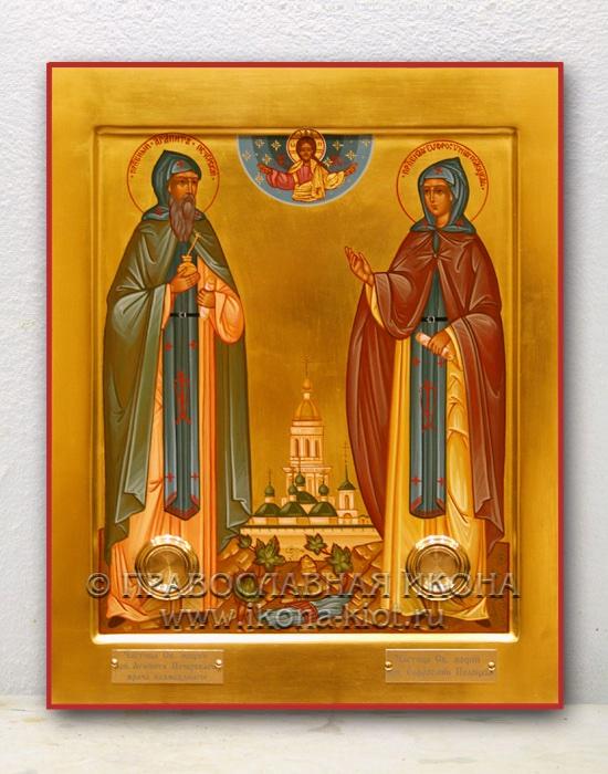 Икона «Евфросиния Полоцкая и Агапит Печерский»