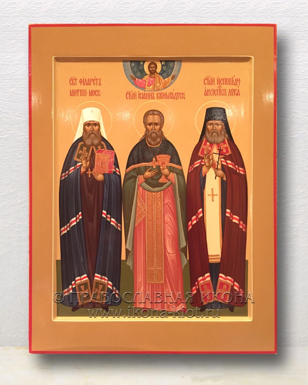 Икона «Филарет митрополит, Иоанн Кронштадтский, Лука исповедник»