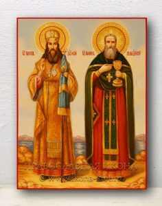 Икона «Иоанн Кронштадтский и Тихон Задонский»