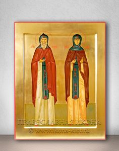 Икона «Кирилл и Мария Радонежские» (образец №4)