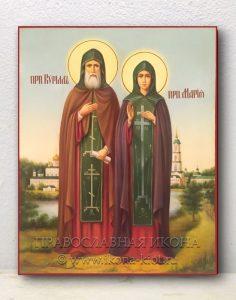 Икона «Кирилл и Мария Радонежские» (образец №2)
