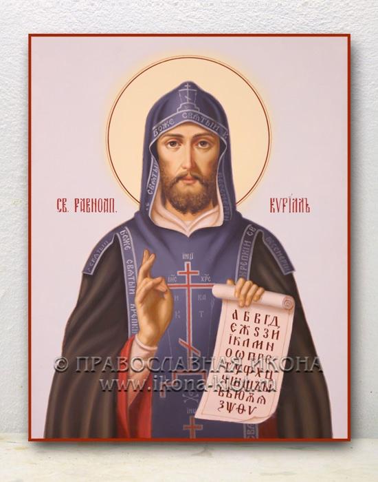 Икона «Кирилл Моравский, равноапостольный» (образец №4)