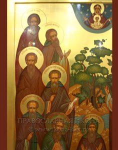 Икона «Комельские преподобные» (образец №2)