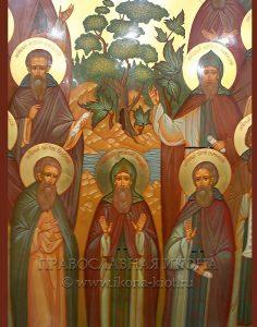 Икона «Комельские преподобные» (образец №3)