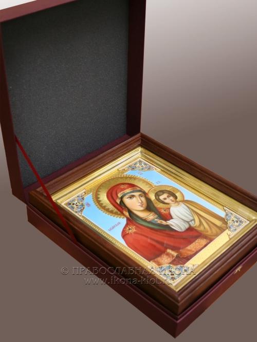 Картонная коробка для иконы с замком