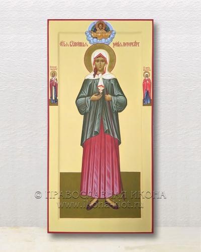 Мерная икона с предстоящими (с золочением нимба)