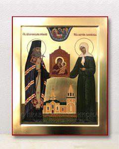 Икона «Лука Крымский и Матрона Московская»