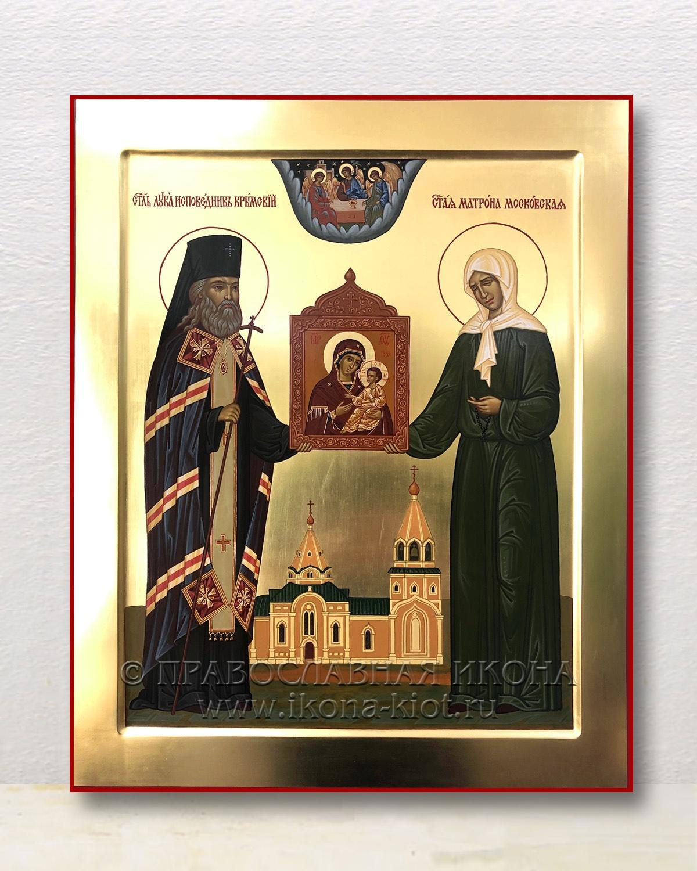 Икона «Лука Крымский и Матрона Московская» (образец №1)
