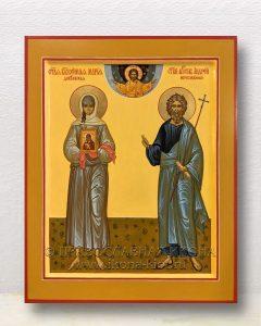 Икона «Мария Дивеевская и Андрей Первозванный»