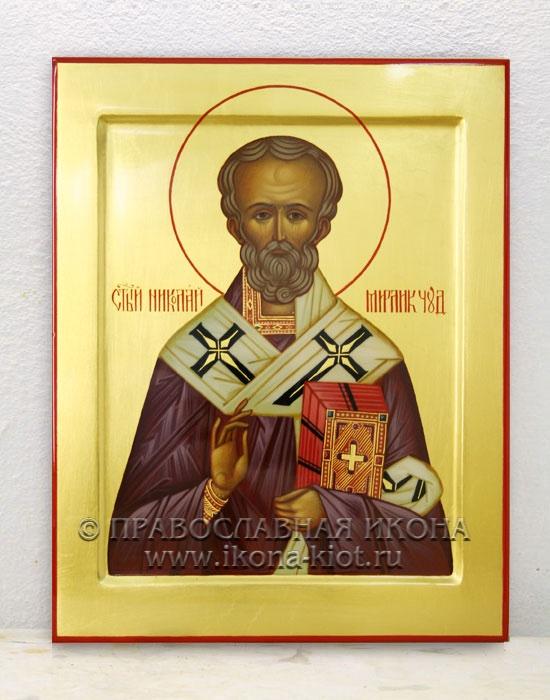 Икона «Николай Мирликийский, чудотворец» (образец №1)