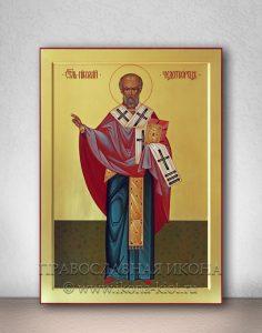 Икона «Николай Мирликийский, чудотворец» (образец №10)