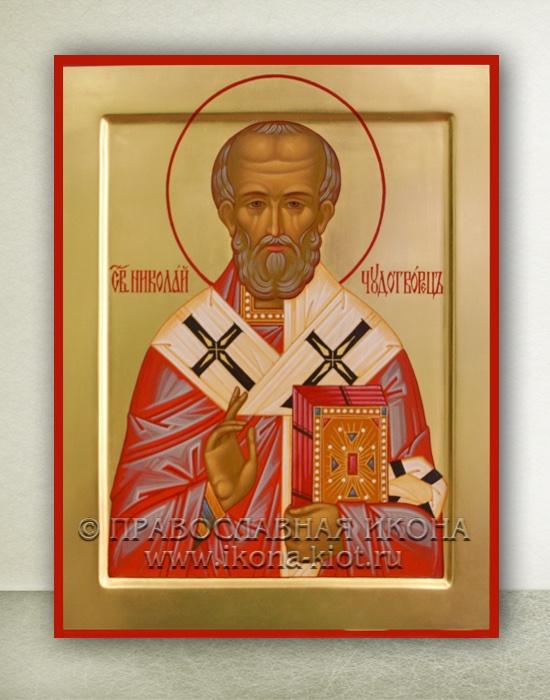 Икона «Николай Мирликийский, чудотворец» (образец №12)