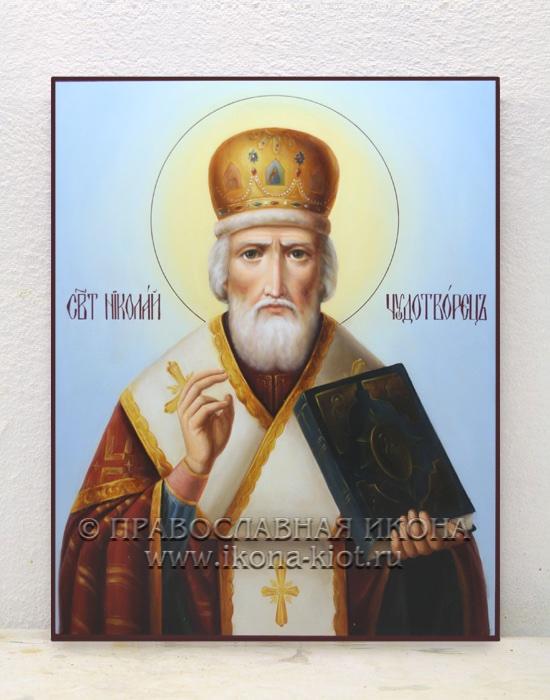 Икона «Николай Мирликийский, чудотворец» (образец №19)