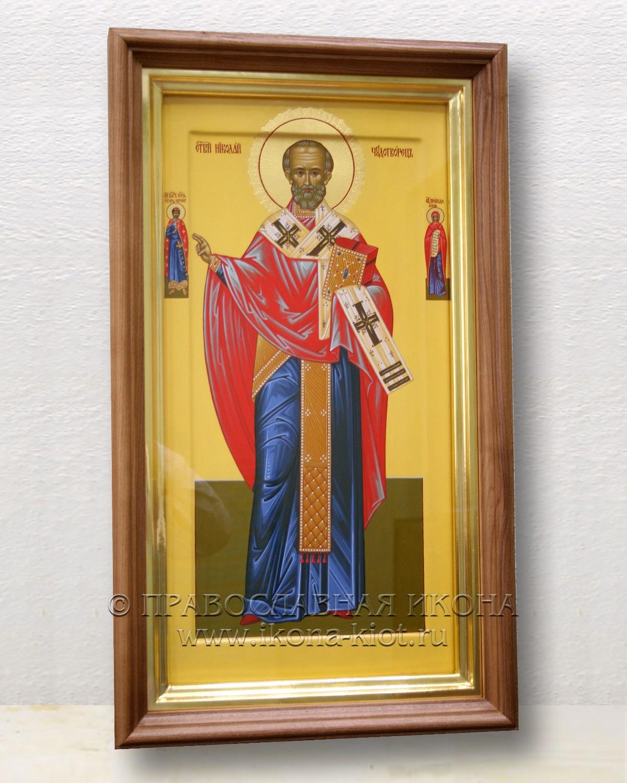 Икона «Николай Мирликийский, чудотворец» (образец №21)