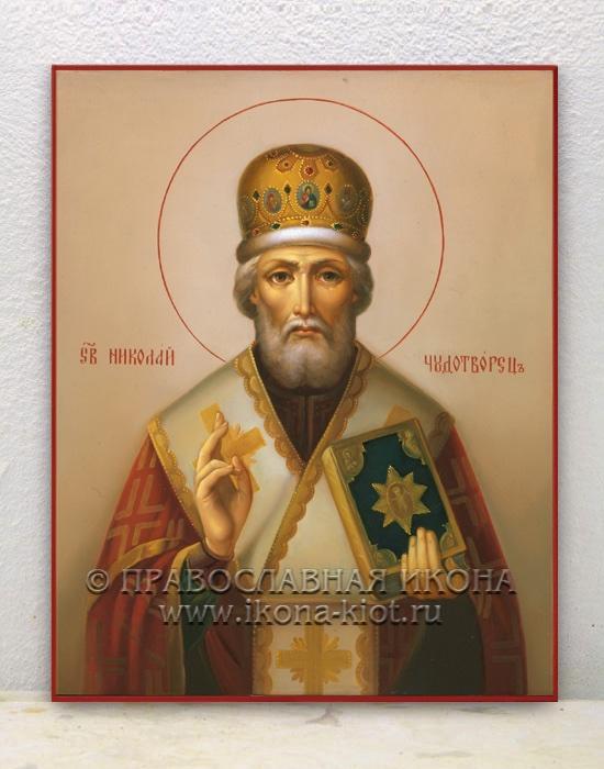 Икона «Николай Мирликийский, чудотворец» (образец №22)