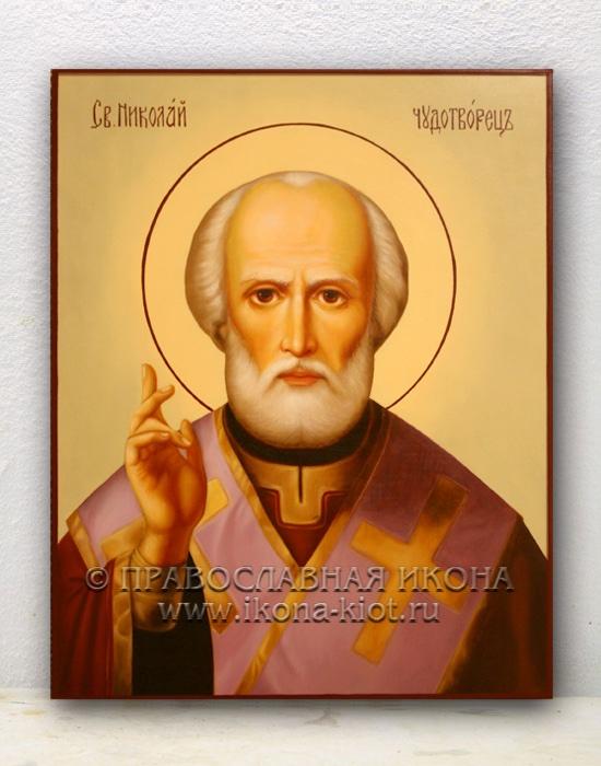 Икона «Николай Мирликийский, чудотворец» (образец №23)