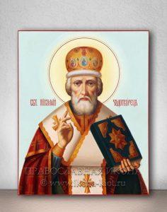 Икона «Николай Мирликийский, чудотворец» (образец №26)