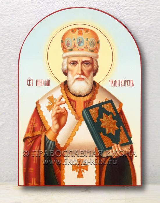 Икона «Николай Мирликийский, чудотворец» (образец №27)