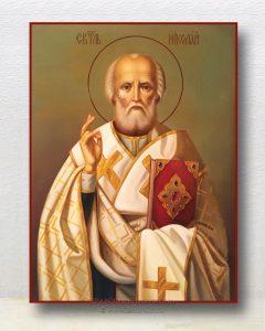 Икона «Николай Мирликийский, чудотворец» (образец №28)