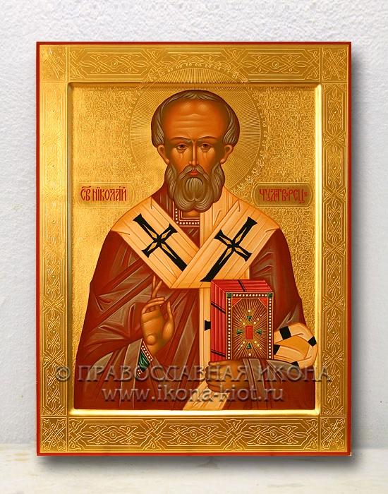 Икона «Николай Мирликийский, чудотворец» (образец №35)