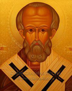 Икона «Николай Мирликийский, чудотворец» (образец №37)