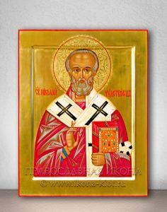 Икона «Николай Мирликийский, чудотворец» (образец №38)
