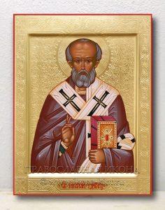 Икона «Николай Мирликийский, чудотворец» (образец №39)