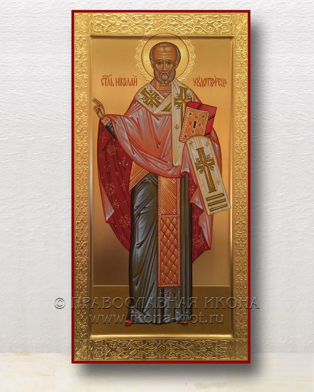 Икона «Николай Мирликийский, чудотворец» (образец №40)