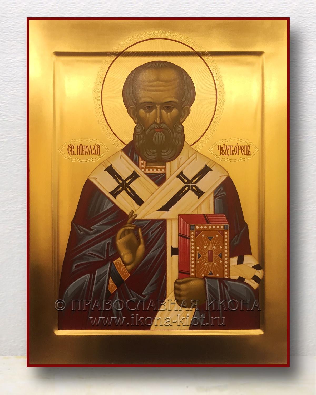 Икона «Николай Мирликийский, чудотворец» (образец №41)