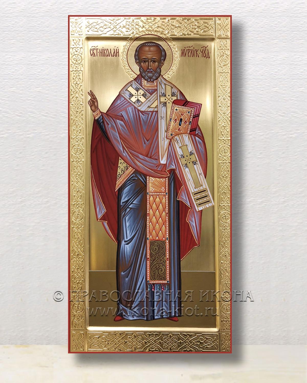 Икона «Николай Мирликийский, чудотворец» (образец №43)