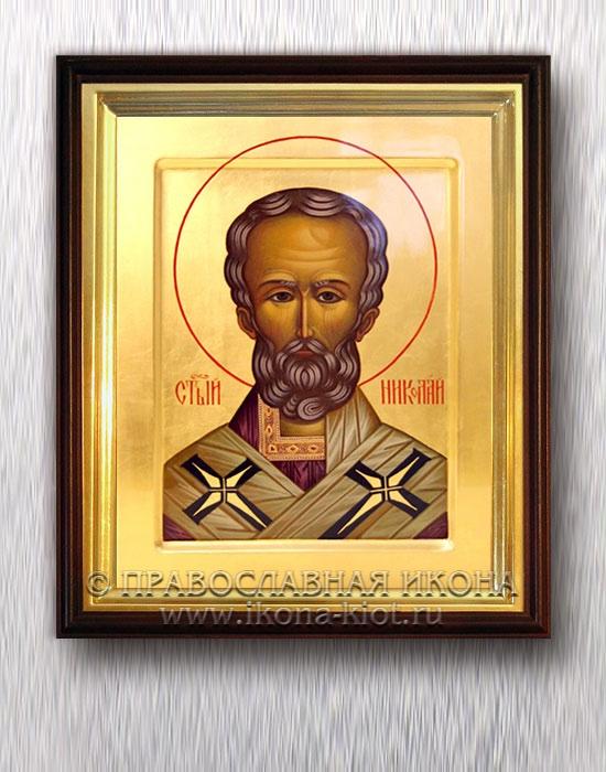 Икона «Николай Мирликийский, чудотворец» (образец №46)