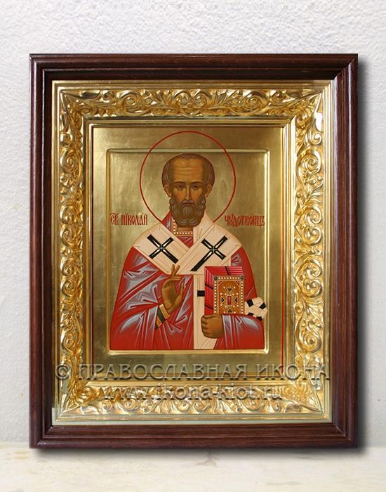 Икона «Николай Мирликийский, чудотворец» (образец №48)