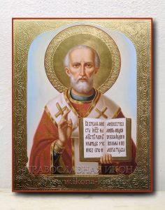 Икона «Николай Мирликийский, чудотворец» (образец №52)
